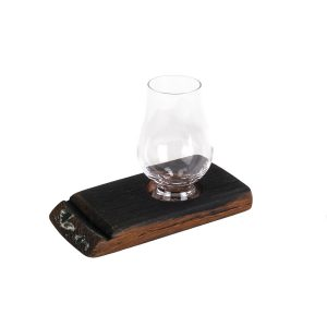 1 Glass Whisky Barrel Holder
