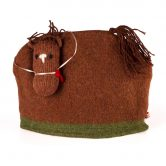 Scottish Wool Brown Horse Tea Cosy