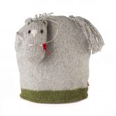 Scottish Wool Grey Horse Cafetiere Cosy