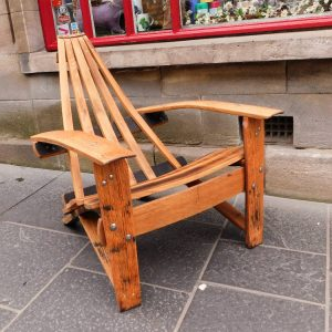Adirondack Whisky Barrel Chair